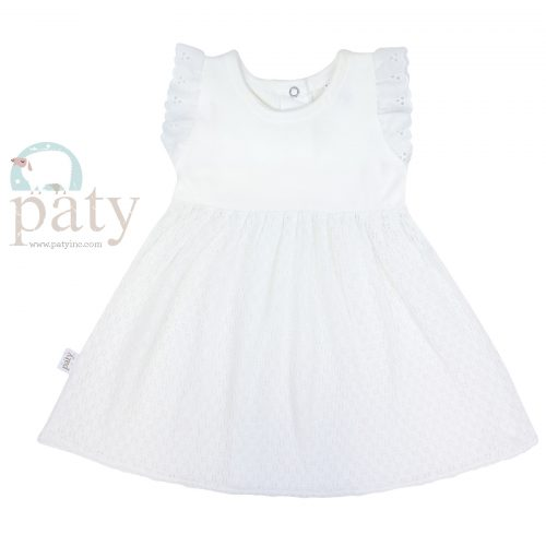 White Dress w/ Eyelet Trim