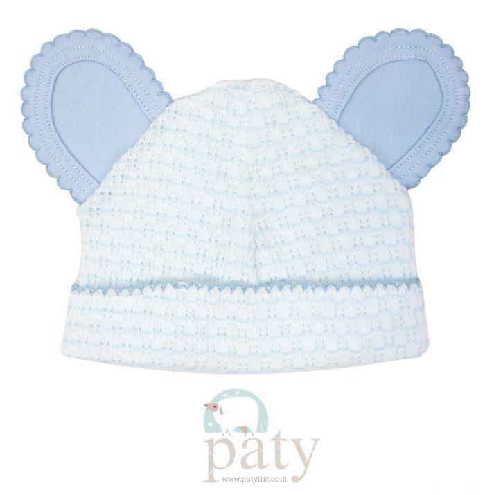 Paty Blue Pinstripe Bear Cap w/ Blue Trim