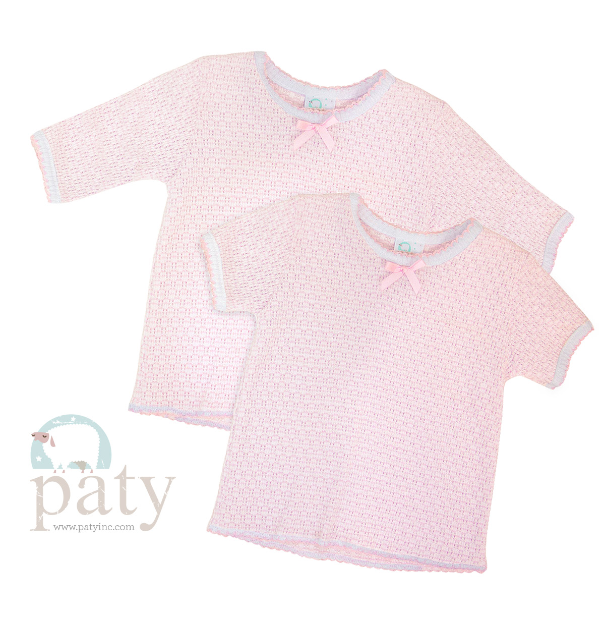 b694def040 Short Sleeve or Long Sleeve Solid Knit Top #225 – Paty, Incorporated