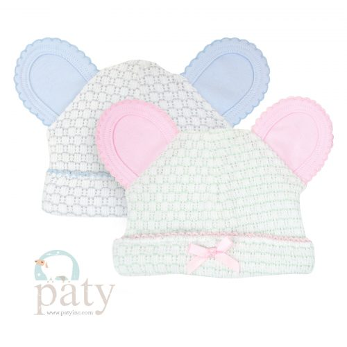 Paty Pinstripe Bear Cap w/ Trim Options