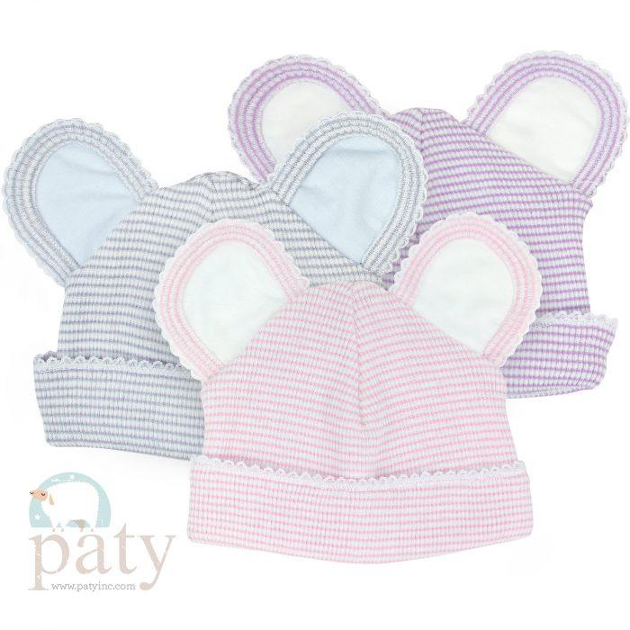 Paty Rib Knit Bear Caps
