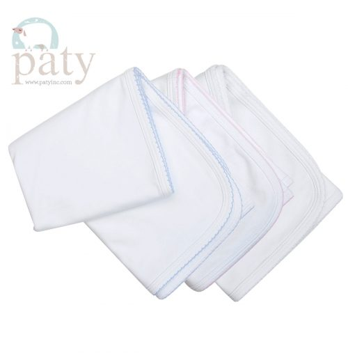 White Cotton Classic Paty Blanket