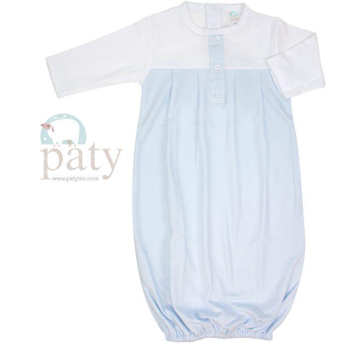 Sweet Stripes Pima Gown Boy