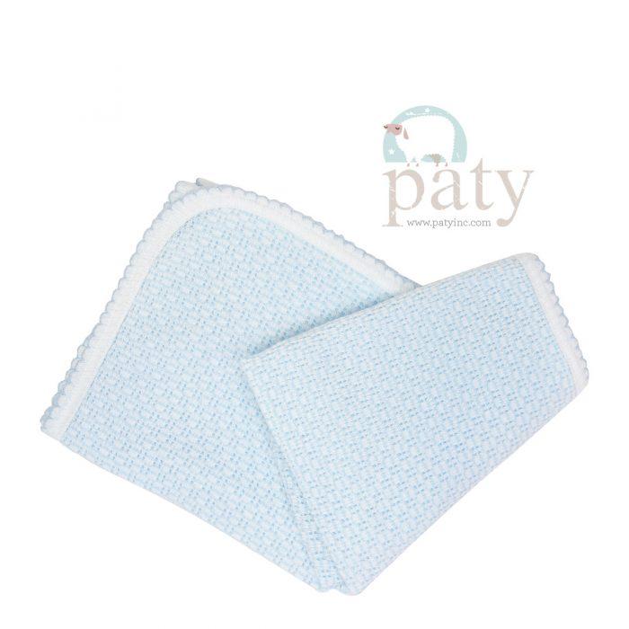 Paty Blue Receiving Swaddle Blanket