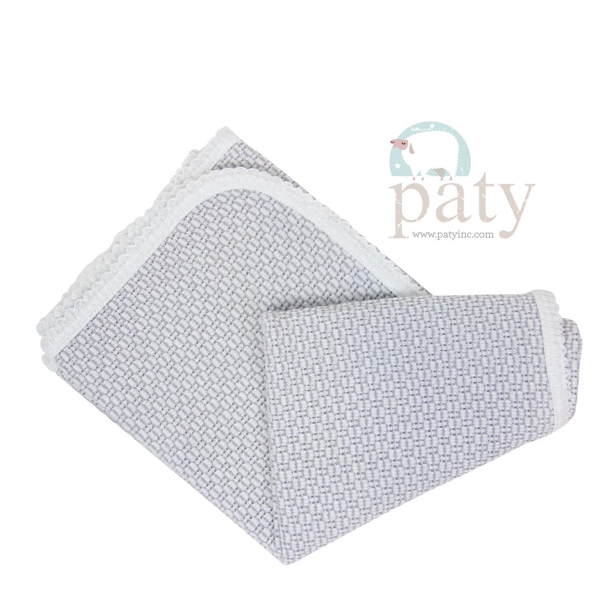 Paty Grey Receiving Swaddle Blanket
