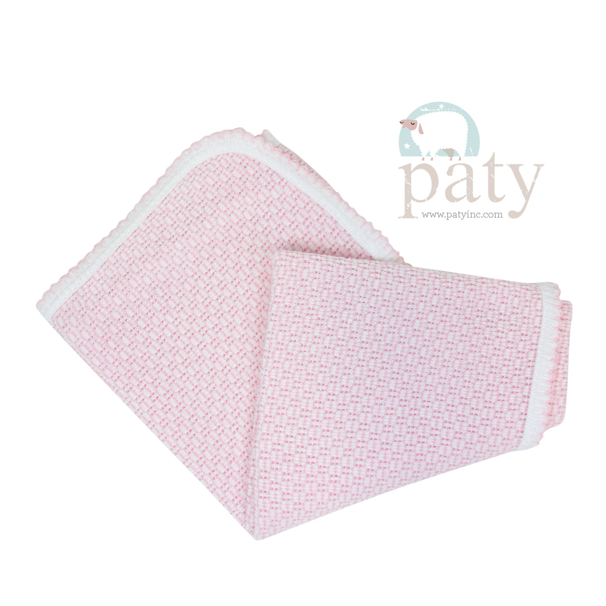 Paty Pink Receiving Swaddle Blanket