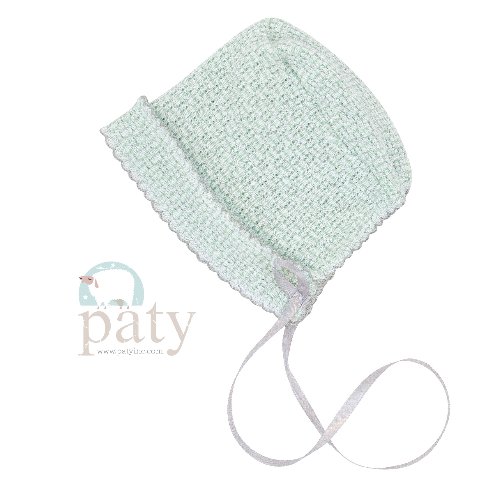 Mint Paty Bonnet with Finished Edge