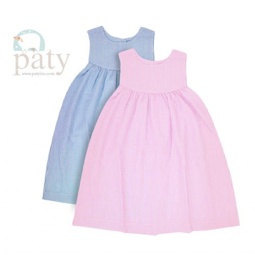 Seersucker Scoopneck Dress