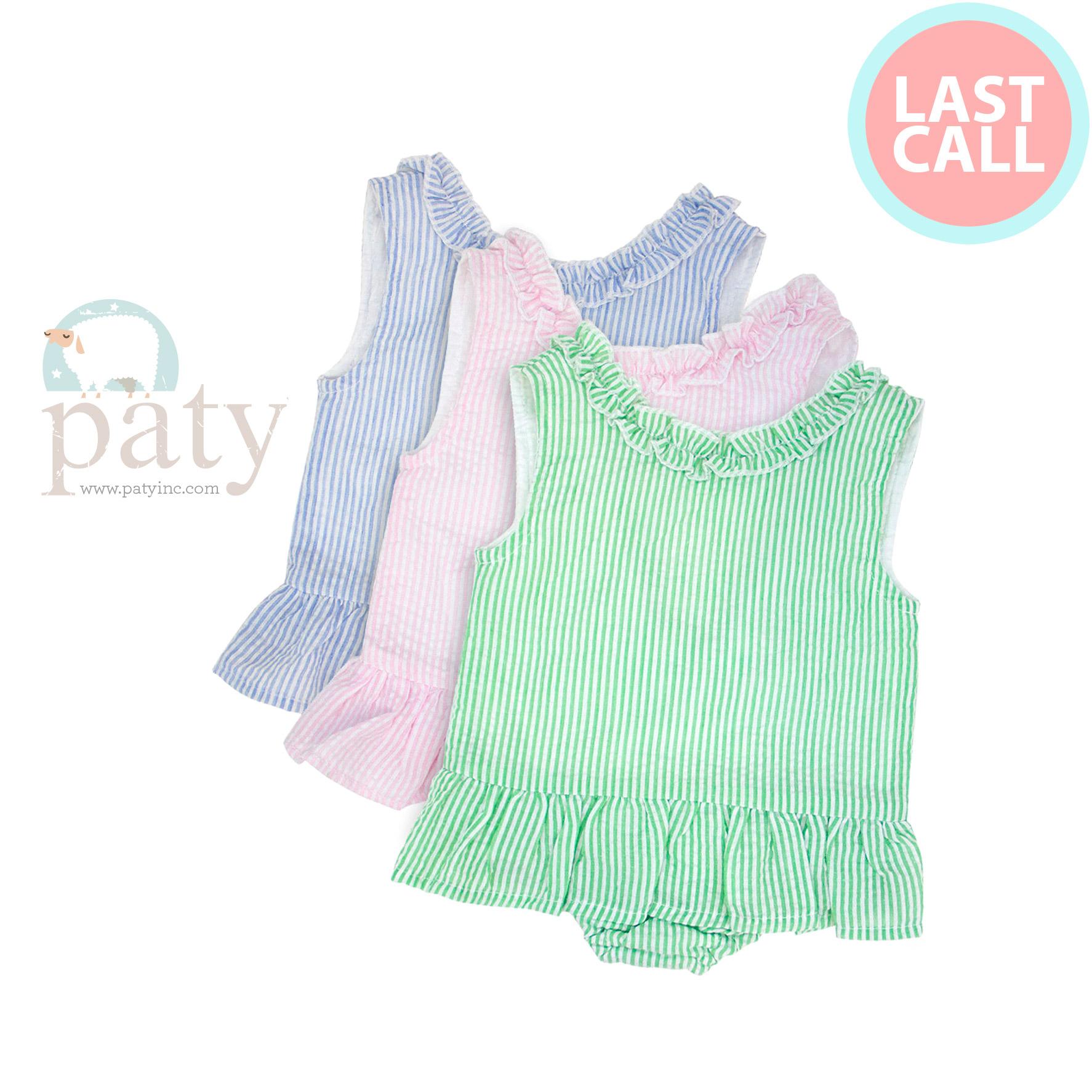 Last Call Paty Seersucker Girls Swimsuit