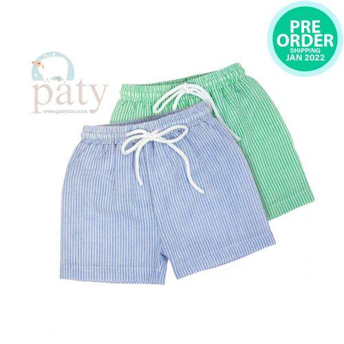 Preorder Seersucker Boys Swim Shorts