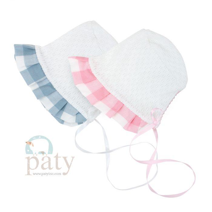 Paty Knit Check Bonnets