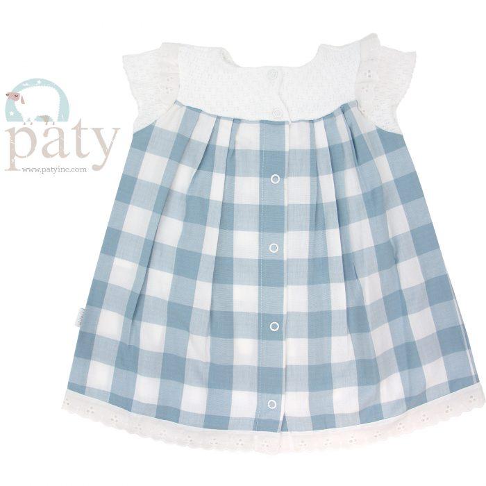Paty Knit (Check) Dress - Back