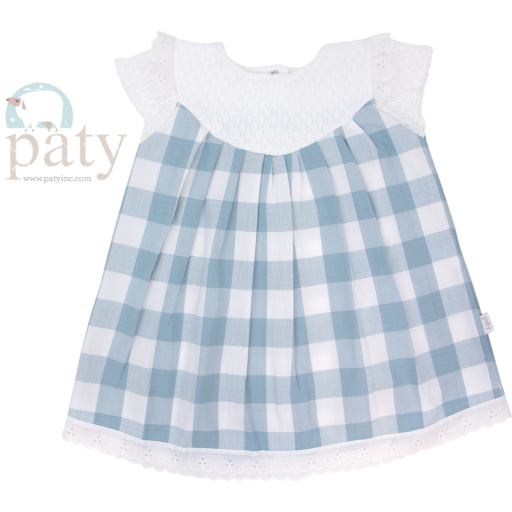 Paty Knit (Check) Dress - Front