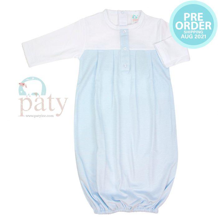 Preorder Sweet Stripes Pima Gown Boy