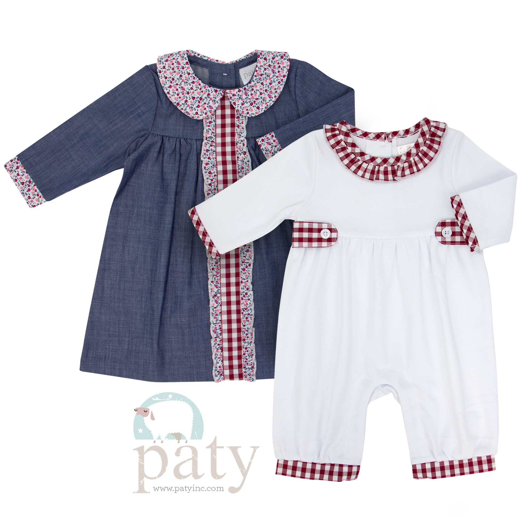 102fa18e956e Chambray Dress and Gingham Romper Gift Set – Paty