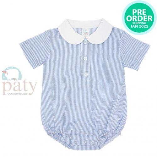 Preorder Paty Seersucker Bubble w/ White Pima Collar