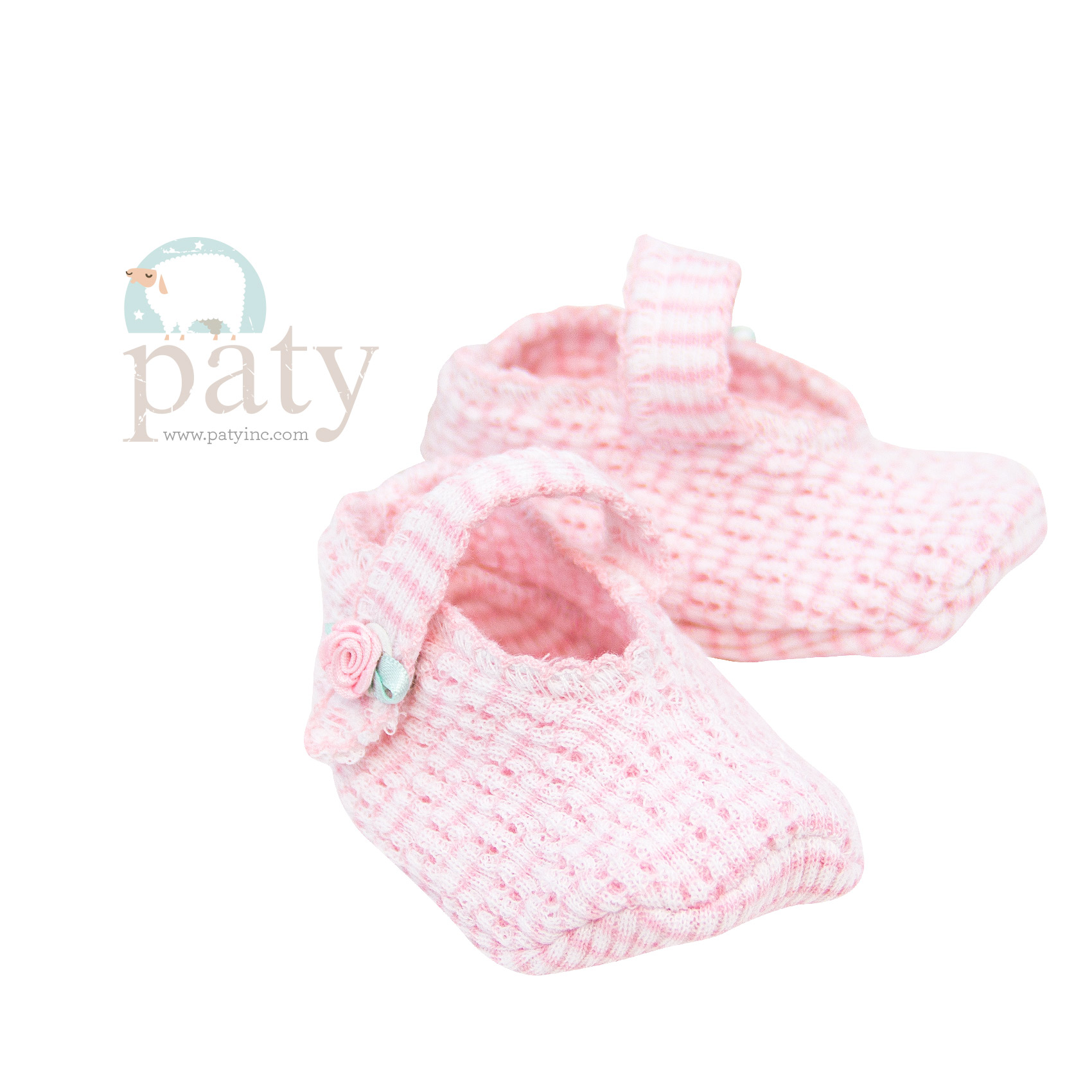 Paty Crib Shoes with Rosettes