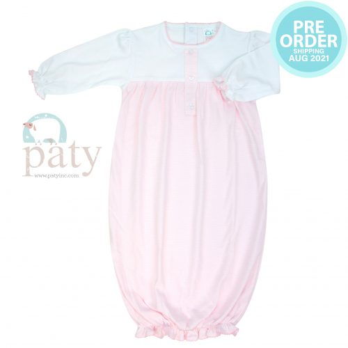 Preorder Sweet Stripes Pima Gown Girl