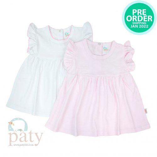 Preorder Pima Dress Pink Stripe / White Dress