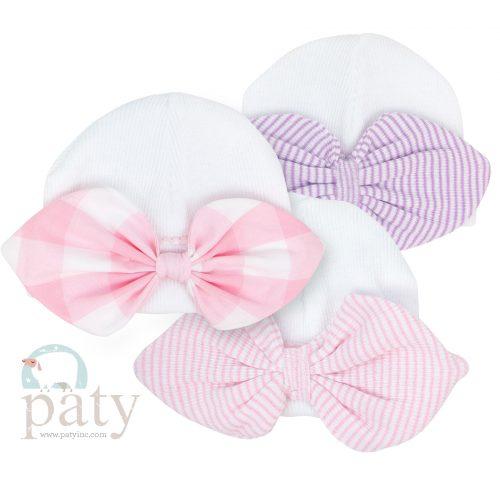 Paty Knit Newborn Sailor Bows