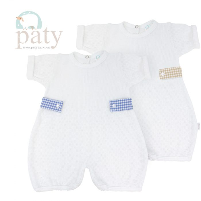 Paty White Bubble w/ Gingham Side Tabs