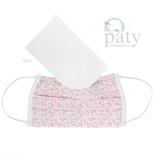 Pink Floral Paty Face Mask
