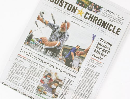 Paty on Houston Chronicle Front Page‼️