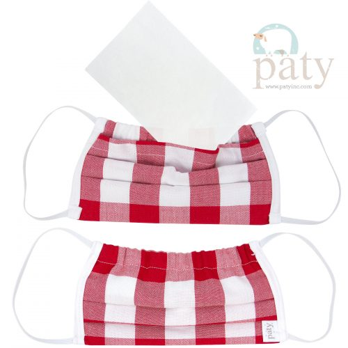 Paty Red Check Face Mask Cover