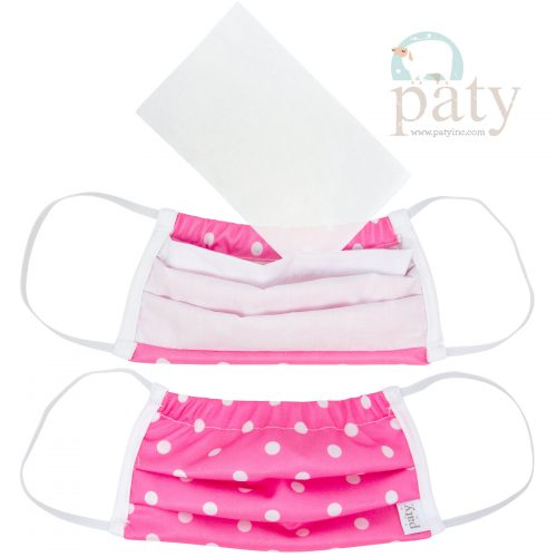 Paty Pink Dot Face Mask Cover