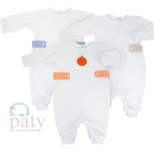 LS Romper w/ Side Tabs Pumpkin Patch Option