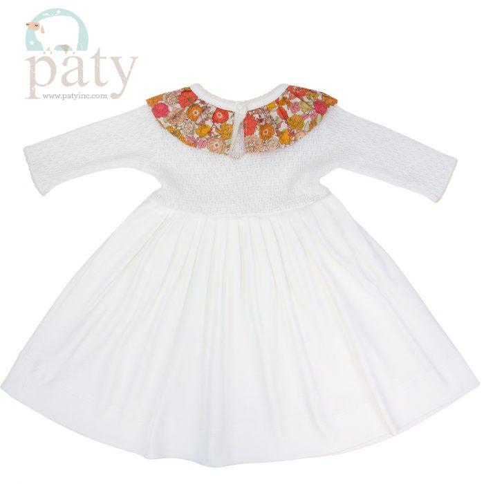 Paty Knit Floral Dress Back