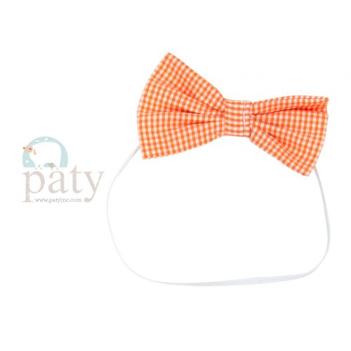 Orange Gingham Bow