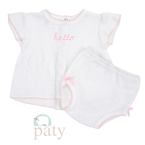 Monogrammed 2 PC Set Top with Panty