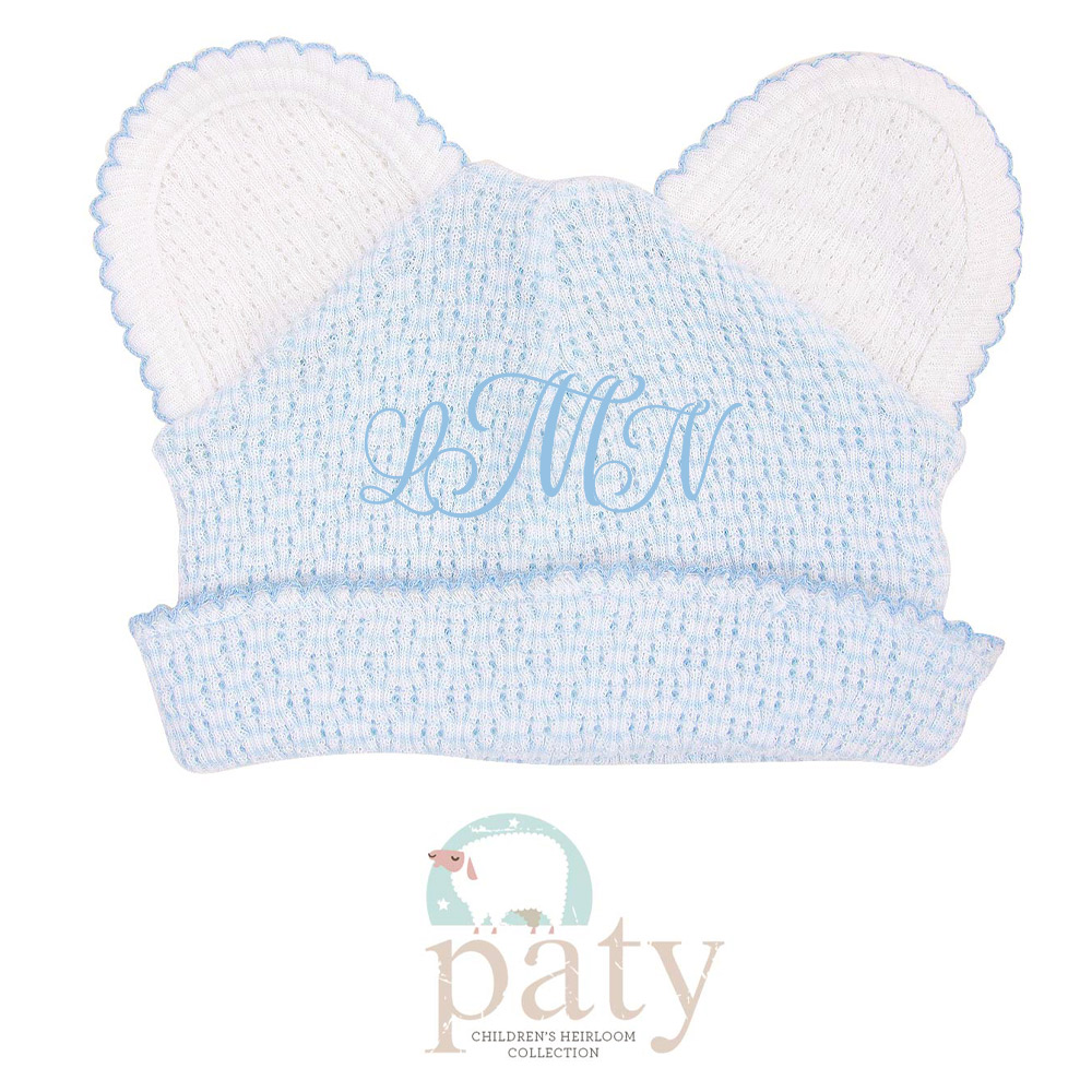 Monogrammed Paty Bear Hat