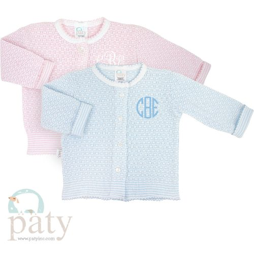 Monogrammed Paty LS Button Up Cardigan Sweater