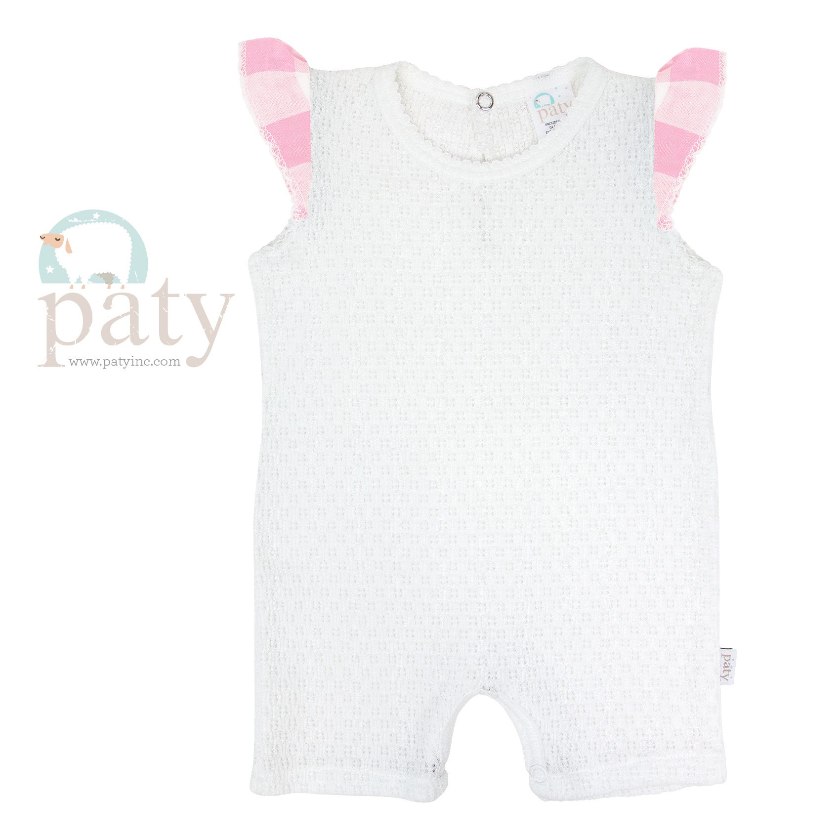 White Bubble w/ Pink Check Angel Sleeve