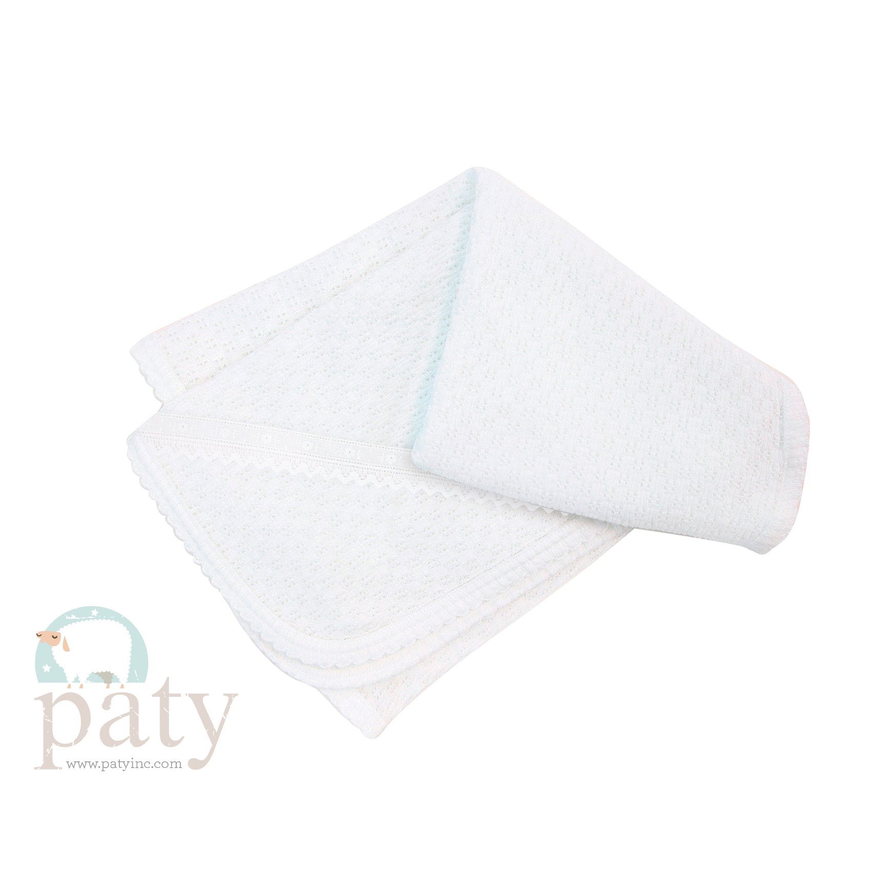 Paty Blanket with Beautiful White Lace