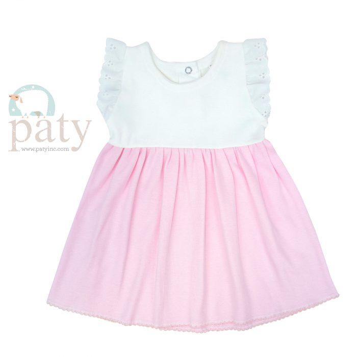 Paty Eyelet Sleeve Pima Dress