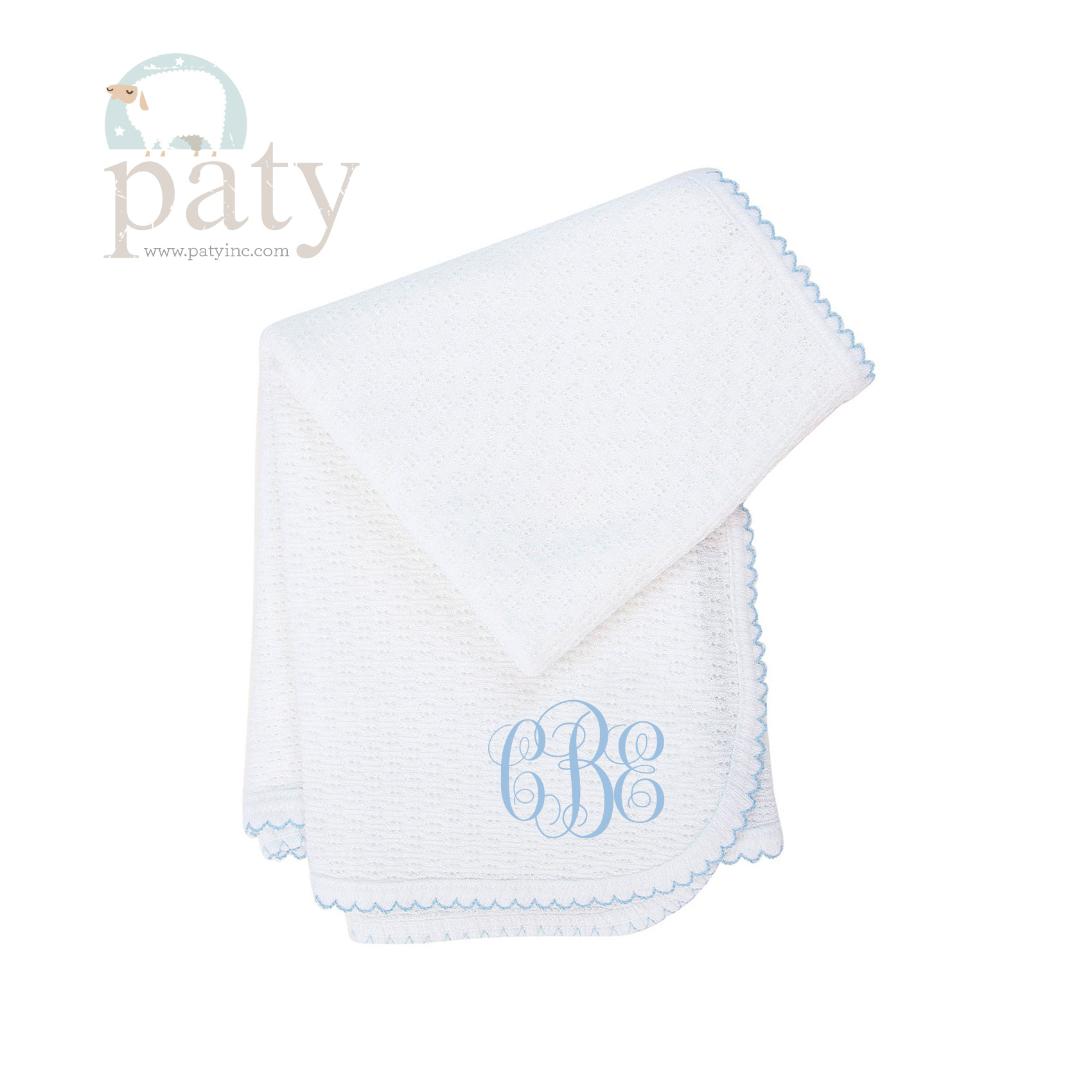 Monogrammed Paty Blanket Interlocking Font