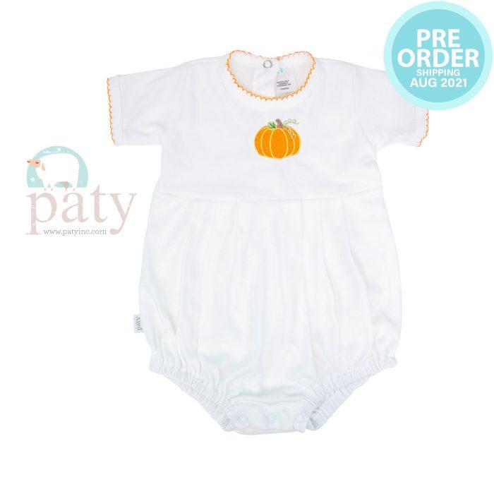 Preorder Pima Bubble w/ Pumpkin Embroidery