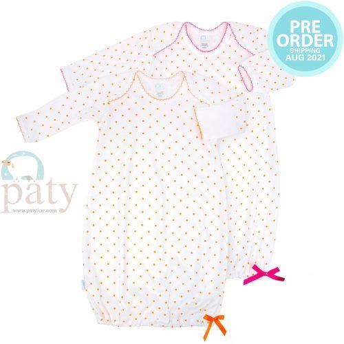 Preorder Pima Orange Mini Dot Gown