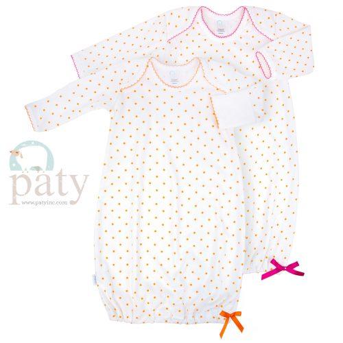 Pima Orange Mini Dot Gown