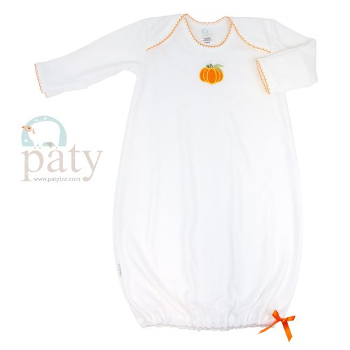 Pima Gown with Pumpkin Embroidery