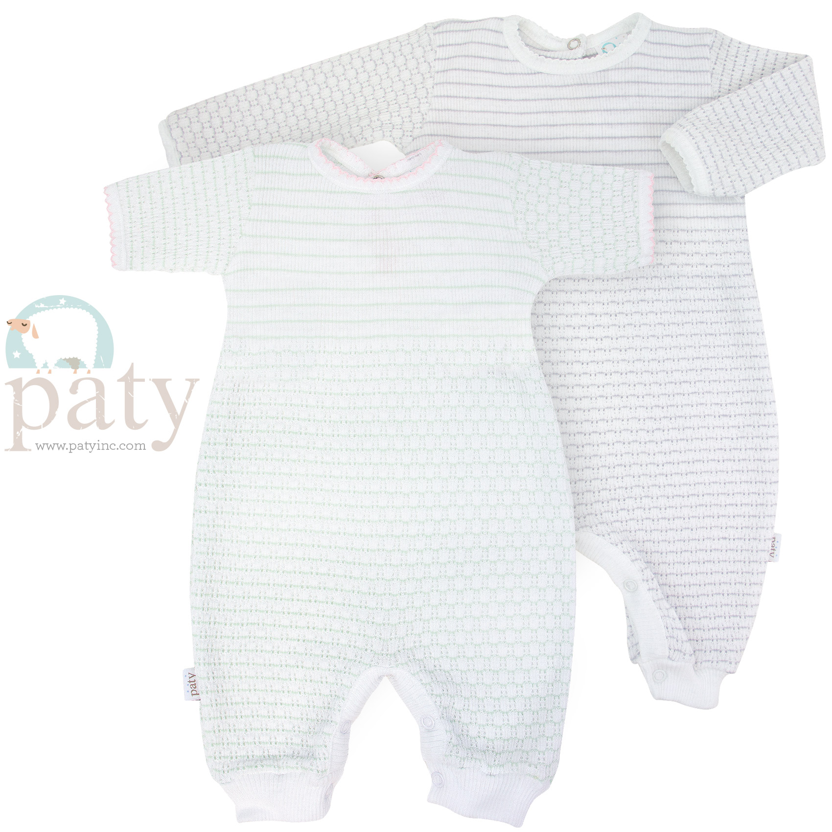Pinstripe Romper with Key-Hole Back